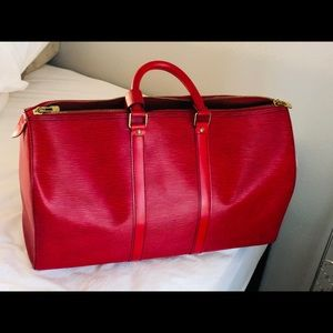 Louis Vuitton Keepall Epi Red Leather 45